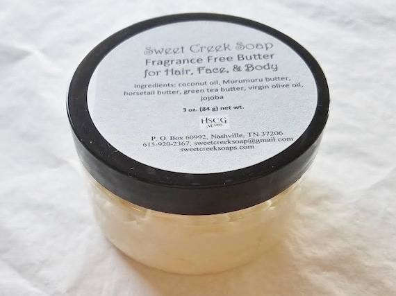 Whipped Hair, Face, and Body Butter, Fragrance Free