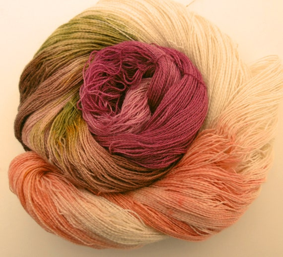 Yarn Lace Baby Alpaca/Silk Mountain Birchwood Winter Elvincraft's Hand Painted