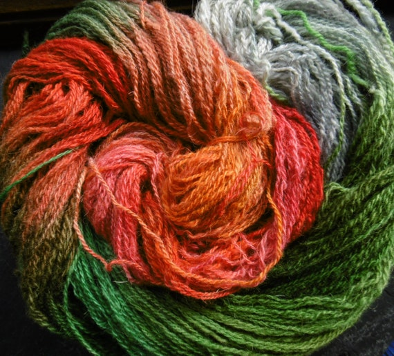 Hand Dyed Yarn 4ply Fingering North Ron. Elvincrafts Autumn Rowan Tree