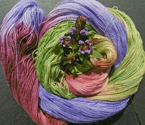 Alpaca Silk Lace 2ply Yarn Self Heal Elvincraft Hand Painted