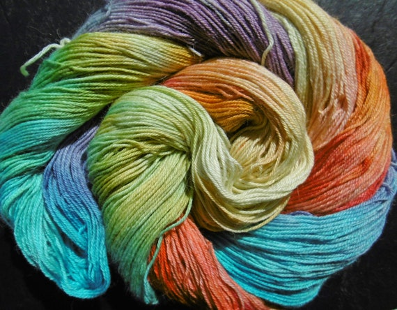 Yarn Baby Alpaca/Silk 4ply sock  Elvincraft's Desert Dreams Hand Painted