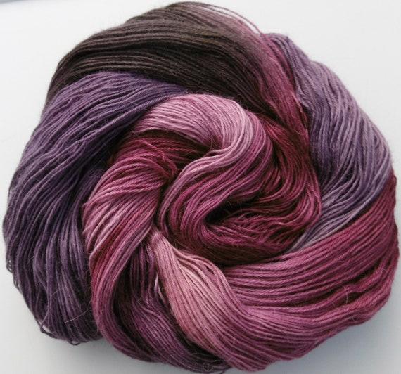 Yarn Baby Alpaca/Silk 4ply sock  Elvincraft's Elderberry Sloes Hand Painted