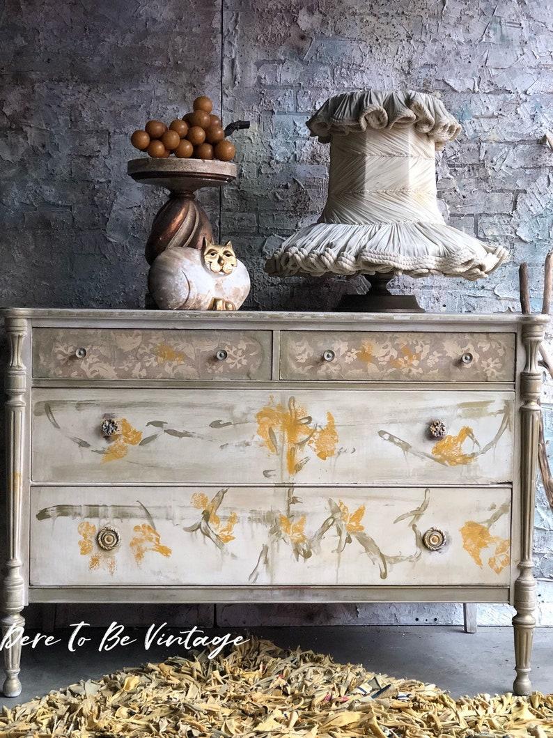 Vintage Dresser Shabby Chic Buffet Bohemian Dresser Etsy