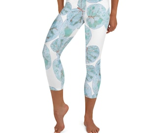 Yoga Capri Leggings Sea Grape Print