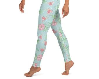 Yoga Leggings Tropical Floral Print