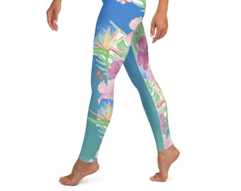 Yoga Leggings Hawaiian Print