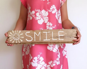 Driftwood Smile Sunshine Art Costal Decor