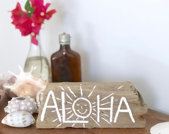 Driftwood Aloha Art Costal Decor