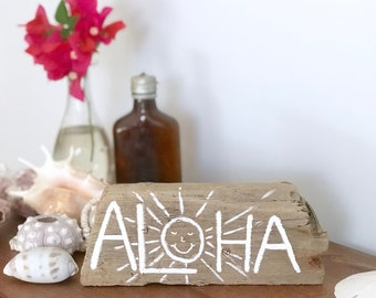 Driftwood Aloha Art Costal Decor