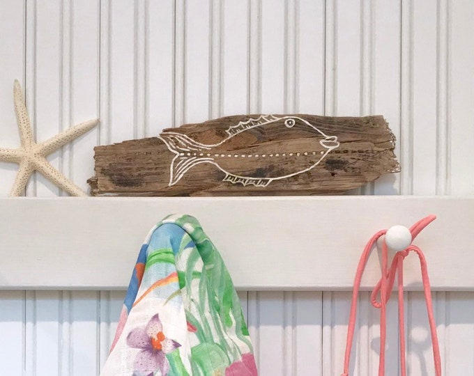 Driftwood Fish Art Costal Decor
