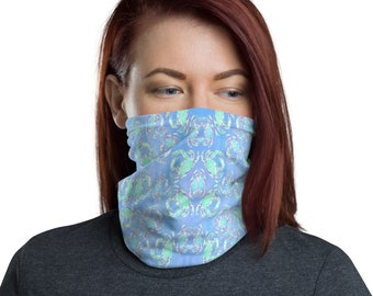 Face Mask Neck Gaiter Crab Print