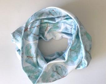 Organic Cotton Infinity Tropical Sea Grape Leaves