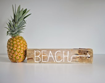 Driftwood Coastal Decor Art Beach Sign