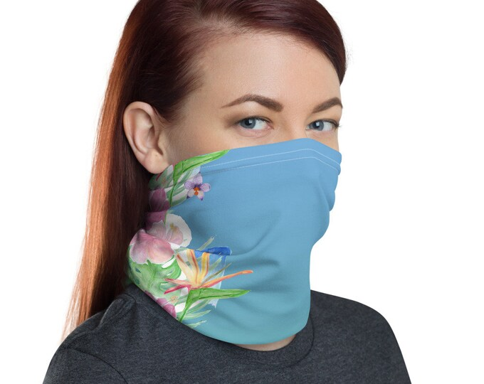 Face Mask Neck Gaiter Tropical Print