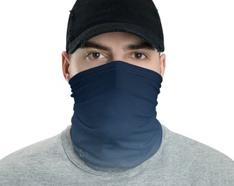 Mens Face Mask Neck Gaiter Blue Sky
