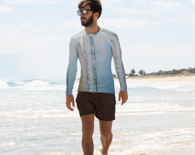 Men's Rash Guard Vintage Ocean, swim top, UPF 38-40, swim top