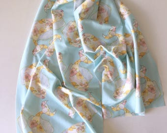 Organic cotton kiaulani tropical flower fish scarf sarong