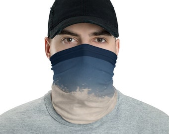 Mens Face Mask Neck Gaiter Ocean Wave