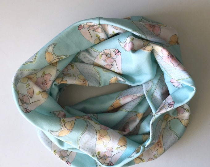 Organic Cotton Infinity Scarf Tropical Fish