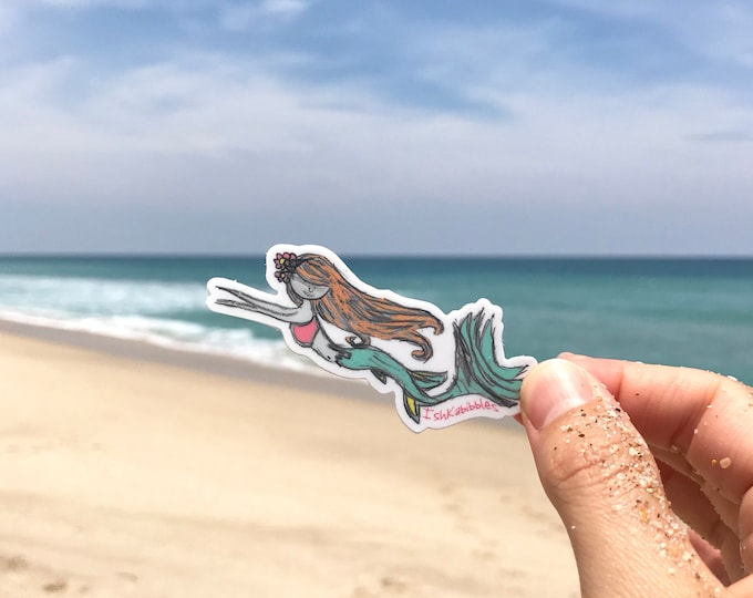 Mermaid Vinyl Stickers Ishkabibbles