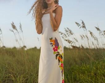 Top Selling Strapless Hawaiian Wedding Dress