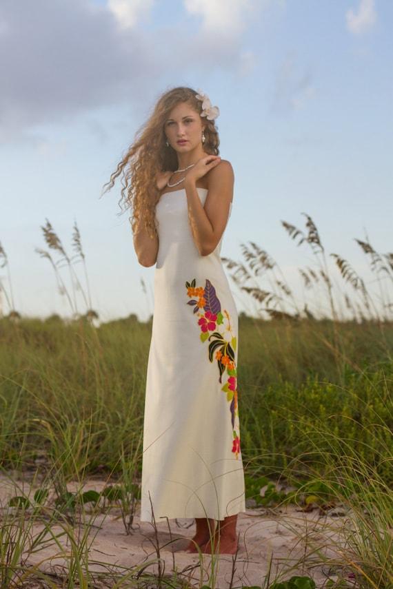 Top Selling Strapless Hawaiian Wedding Dress Etsy