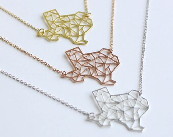 Texas Geometric Necklace | Silver | Small | ATL-N-000-S