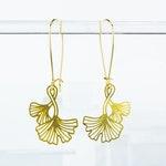 Ginkgo Leaves Earrings | Brass | ATL-E-228