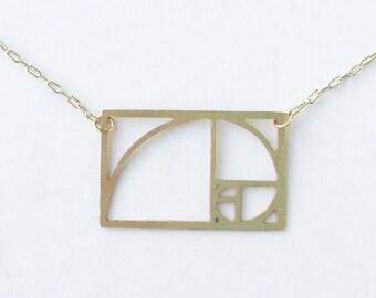 Fibonacci Spiral Necklace | ATL-N-118