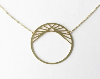 Pyramid in Circle Necklace | ATL-N-157