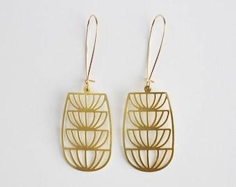 Art Deco Fountain Earrings | ATL-E-221