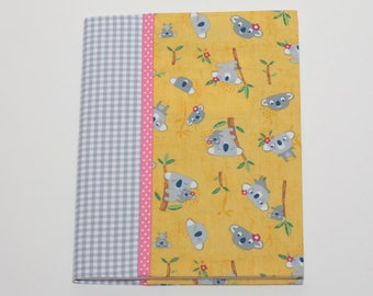 Notebook Cover - Yellow Koalas (Marble Composition Notebook Included)