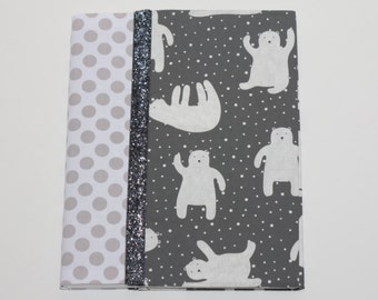 Notebook Cover - Gray Polar Bears (Marble Composition Notebook Included)