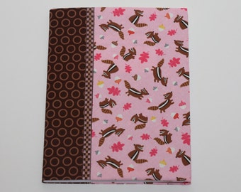 Notebook Cover - Pink Squirrels (Marble Composition Notebook Included)