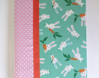 Notebook Cover - Aqua/Bunnies (Marble Composition Notebook Included)