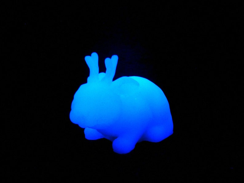 Glowing White Jackalope  Resin Creature Sculpture image 0