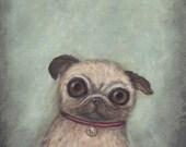 Pug art - giclee print, 8...