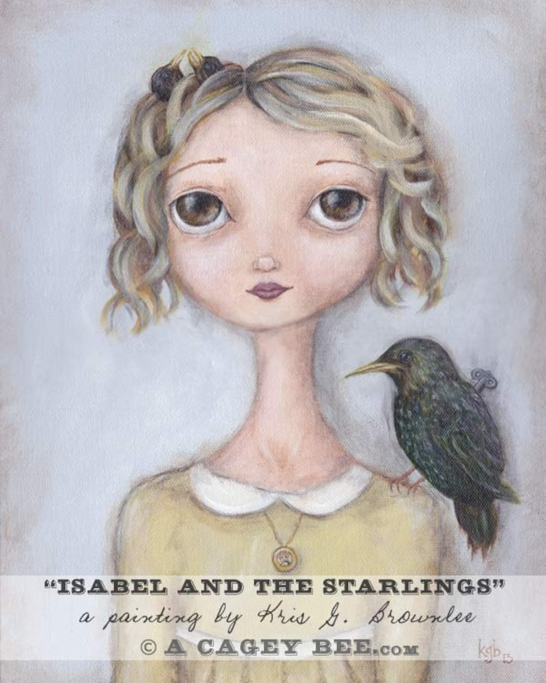 Bird Artwork  Isabel and the Starlings  Girl image 0