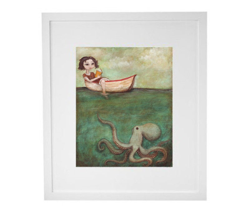 Octopus Art Print  Maggie and the Octopus image 0