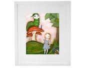 Alice in Wonderland print...