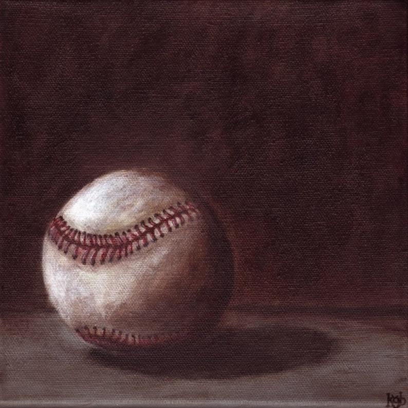 Baseball    8 X 8 print image 0