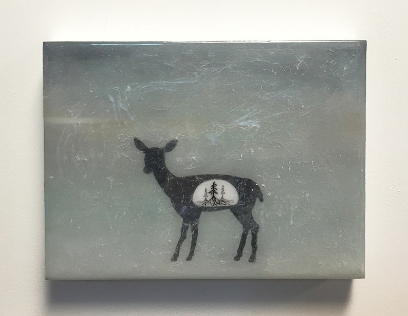 Spirit Animals of the Forest  Doe  original painting with image 0