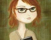 Redhead Reader art print...