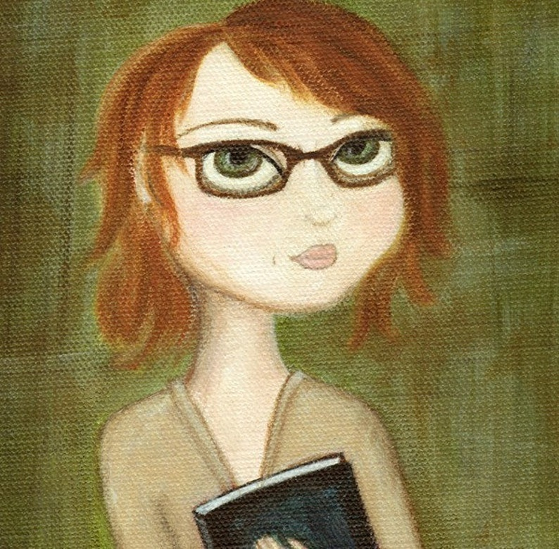 Redhead Reader art print image 0