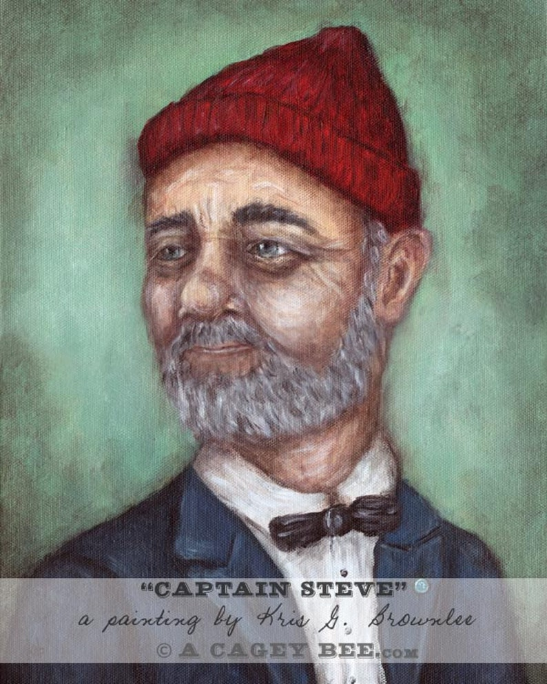 Captain Steve art print  giclee wall art painting inspired by image 0