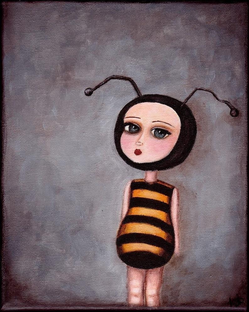 Art Print  The Bee Girl  giclee print from original image 0