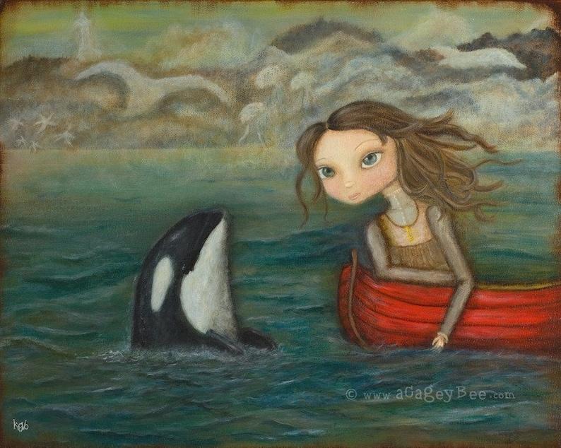 Sarah and the Orca  8x10 print image 0