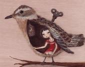 Bird Art Print - Caging t...