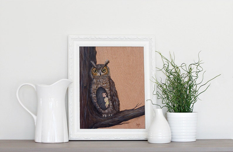 Nesting with the Great Horned Owl  8x10 Art Print from image 0