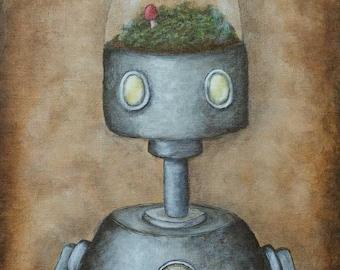 Robot Art Print - Felix (robot no.8) - giclee print, gifts for him